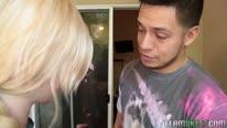 Сосед пристроил пенис в писю блондинки
